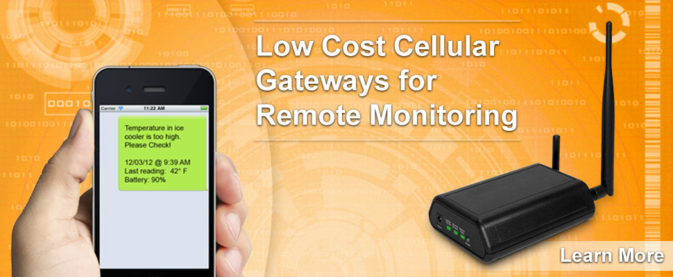 Low Cost Cellular Gateways for Remote Monitoring